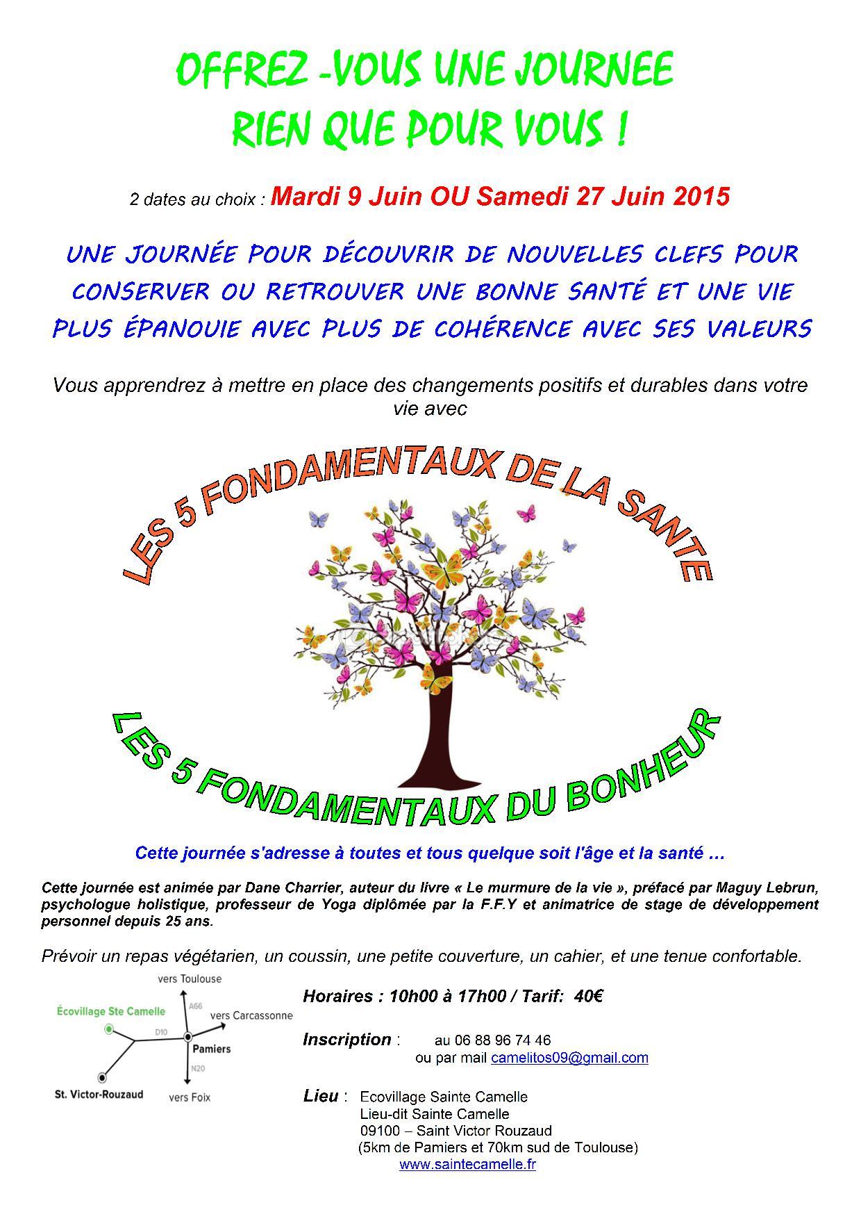 Journée Fondamentaux SANTE - BONHEUR - Flyer- Bruno