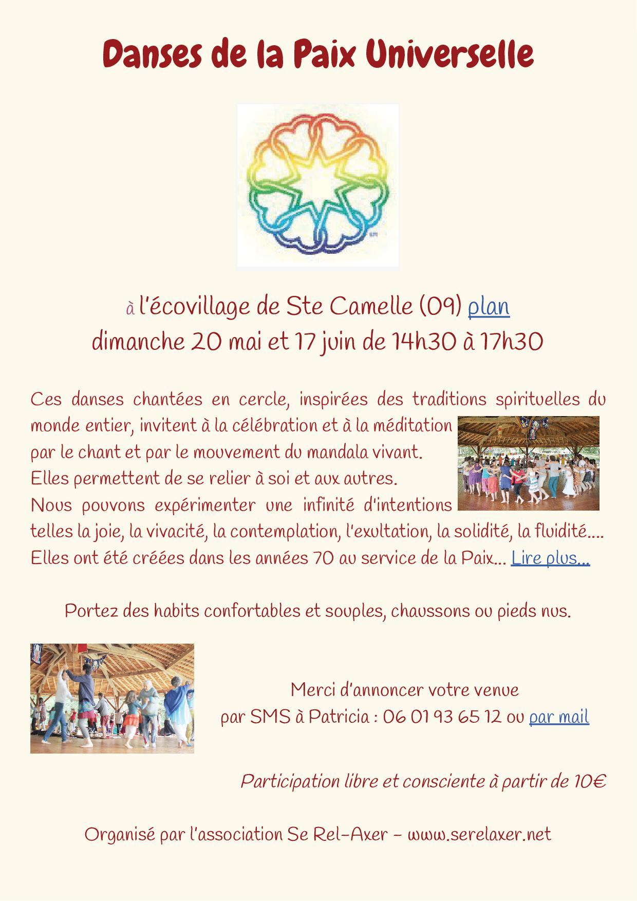Danses de la Paix Universelle à Ste Camelle